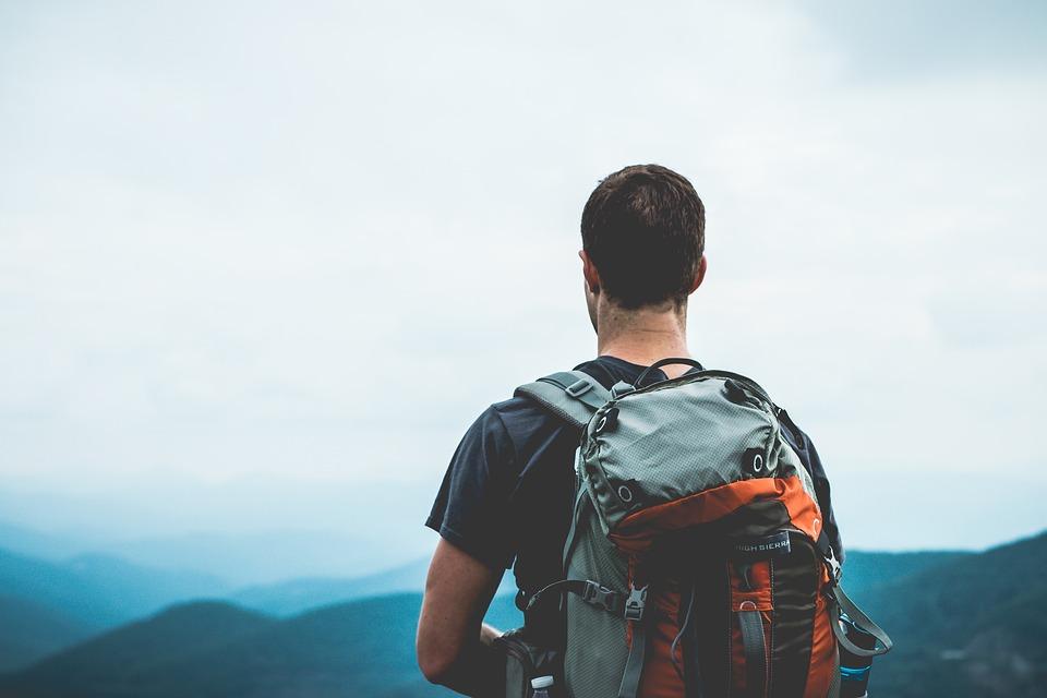 Hiker Walking Backpacker Backpacking Travelling